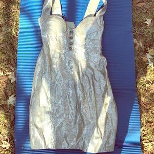 Silver/gold semi-formal sweetheart top dress